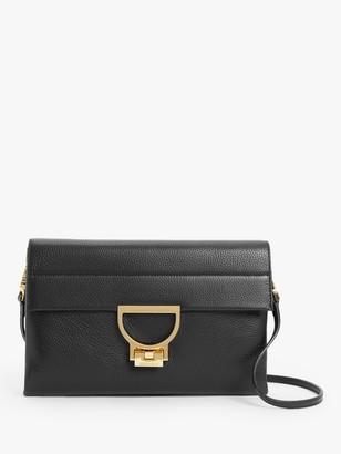 Coccinelle Arlettis Leather Cross Body Bag, Black