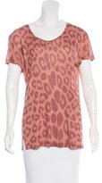 Stella McCartney Short Sleeve Leopard Print T-Shirt