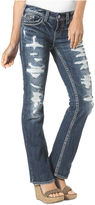 Silver Jeans Juniors' Aiko Destroyed Bootcut Jeans