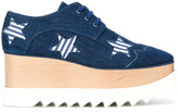 Stella McCartney Elyse platform shoes - women - Cotton/Polyurethane/Artificial Leather/rubber - 35