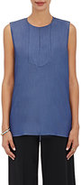 TOMORROWLAND WOMEN'S POLISHED TWILL SLEEVELESS TOP