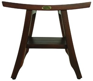 "Satori Decoteak 18"" Eastern Styled Teak Shower Seat Decoteak"