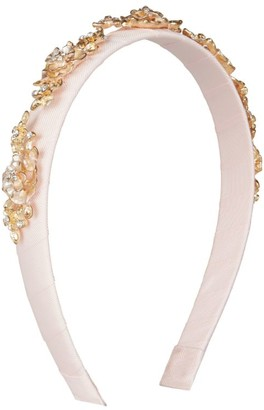 David Charles Filigree Rose Leaf Headband