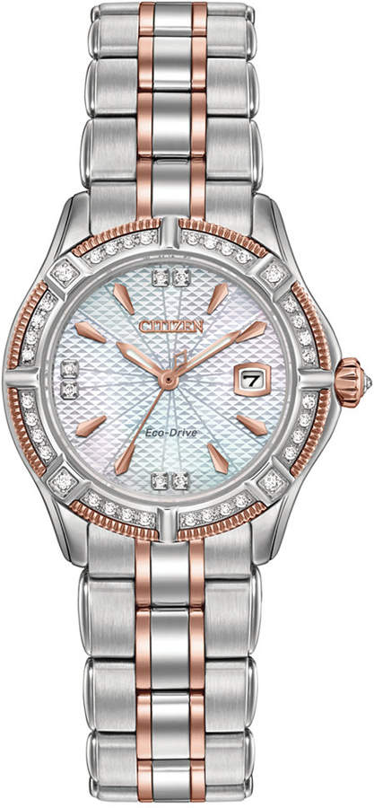 Citizen Women's Signature Diamond Accent Two-Tone Stainless Steel Bracelet Watch 29mm EW2276-80D