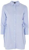 Topshop PETITE Stripe Corset Shirt Dress