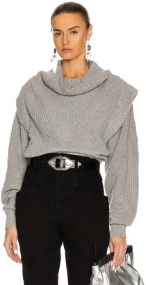 Isabel Marant Poppy Sweater in Grey | FWRD