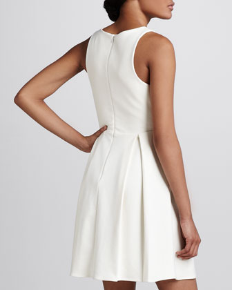 Amanda Uprichard Gabby Pleated Sleeveless Dress