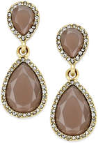 INC International Concepts Pave Colored Stone Drop Earrings, Created for Macy's