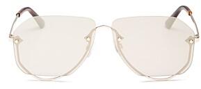McQ Unisex Rimless Aviator Sunglasses, 63mm