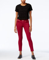 True Religion Casey Merlot Wash Cropped Skinny Jeans
