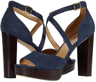 MICHAEL Michael Kors Marais Platform (Navy) Women's Shoes