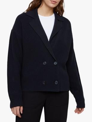 Jigsaw Chunky Rib Collar Cord Jacket, Dark Navy