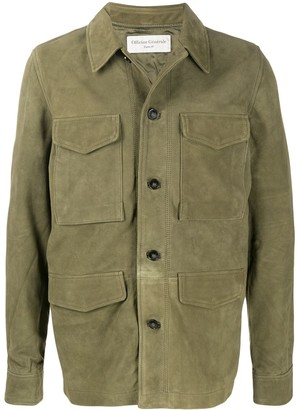 Officine Generale Multi-Pocket Leather Jacket