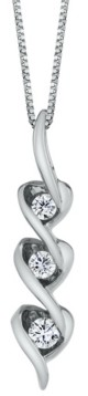 Sirena Diamond (1/8 ct. t.w.) Heart Pendant in 14k White, Yellow or Rose Gold