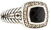 David Yurman Diamond & Onyx Petite Albion Ring
