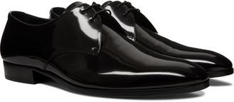 Saint Laurent Wyatt Patent-Leather Derby Shoes