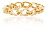 David Webb Polished Gold Nail Link Bracelet
