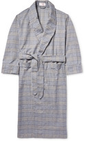 Emma Willis - Checked Brushed-cotton Robe