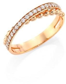 Hueb Bubbles Diamond & 18K Rose Gold Ring