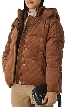 Whistles Casey Corduroy Puffer Jacket