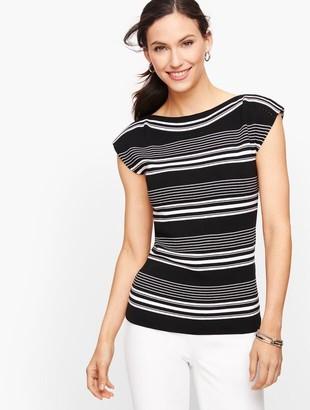 Talbots Cap Sleeve Sweater - Stripe