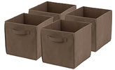 Honey-Can-Do Non-Woven Foldable Cube Bins (Set of 4)