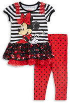 Nannette Girls 2-6x Minnie Mouse Dress and Leggings Set