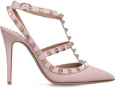 Valentino Rockstud 100 leather T-bar courts