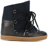 Etoile Isabel Marant Isabel Marant - Étoile 'Nowles' lace-up boots - women - Calf Leather/Sheep Skin/Shearling/Wool/rubber - 36