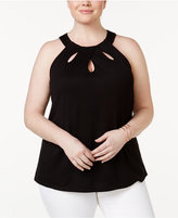 INC International Concepts Plus Size Cutout Halter Top, Created for Macy's