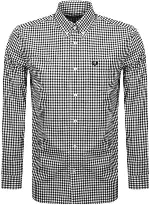 Fred Perry Gingham Check Shirt Black