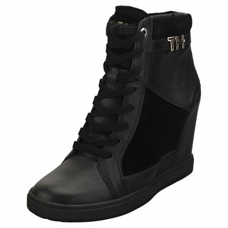 Tommy Hilfiger Women's Th Hardware Sneaker Wedge Hi-Top Trainers