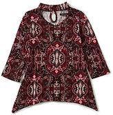 Xtraordinary Big Girls 7-16 Floral-Print Bell-Sleeve Top