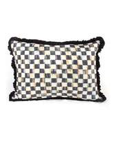 Mackenzie Childs MacKenzie-Childs Courtly Check Ruffled Lumbar Pillow