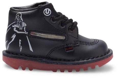 Kickers Star Wars Vader Lightsabre Black Shoes