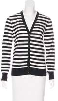 Salvatore Ferragamo Wool Striped Cardigan