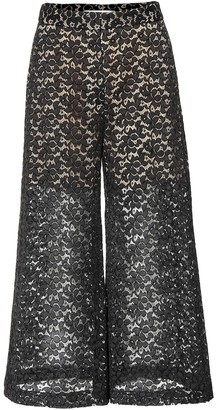 Stella McCartney Cotton-blend lace culottes