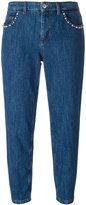 Miu Miu stoned pockets cropped jeans