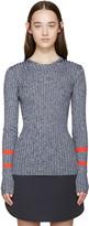 Mary Katrantzou Navy Knit Fontaine Sweater