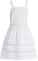 RED Valentino Ladder-lace trimmed cotton dress