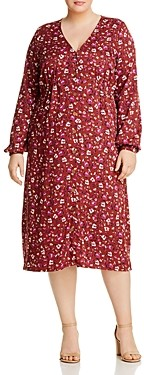Junarose Plus Mauda Floral Button-Front Dress