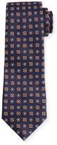 Isaia Woven Neat Square Silk Tie
