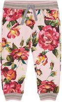 Dolce & Gabbana Rose Patterned Sweatpants