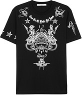 Givenchy Black Printed Cotton T-shirt