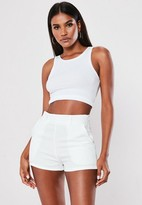 Missguided White Co Ord Tailored Shorts