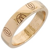 Cartier 18K Rose Gold Happy Birthday Wedding Band Ring Size 4