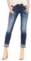 Miss Me Jeweled Embelished Border Hem Low-Rise Skinny Ankle Jeans