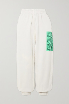McQ True Appliqued Cotton-jersey Track Pants - White