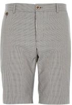 River Island MensNavy tailored houndstooth shorts