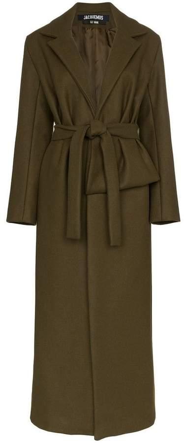 Jacquemus panel detail belted wool coat